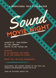 Sound Movie Night Fundraiser