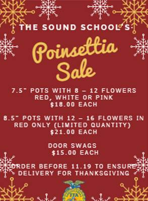 Sound Poinsettia Sale!