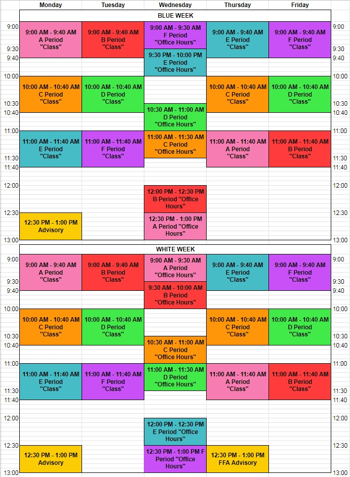 Sound School Remote Learning Time Schedule